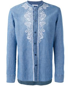 Ermanno Scervino   Collarless Embroidered Panel Shirt Men