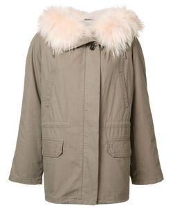 Army Yves Salomon | Short Parka Coat 36 Rabbit