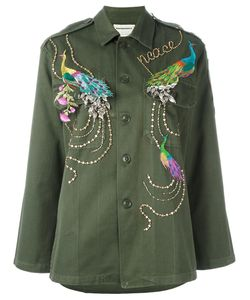Night Market | Peacock Embroidered Jacket Medium