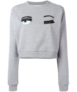 Chiara Ferragni | Embellished Eyes Sweatshirt Size Medium