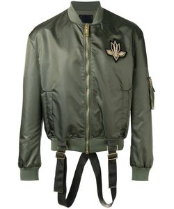 Les Hommes | Strap Detail Bomber Jacket