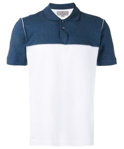 Canali   Contrast Panel Polo Top 52 Cotton