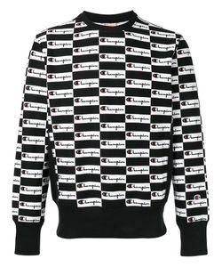 Champion | All Over Logo Sweatshirt Size Large