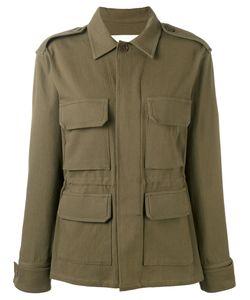 Ava Adore | Fringed Back Military Jacket