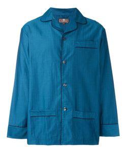 Otis Batterbee | Petrol Herringbone Pyjama Set Large Cotton