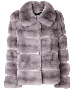 Yves Salomon   Silk Panelled Wide Collar Coat