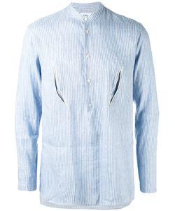 Umit Benan | Striped Embroidered Shirt