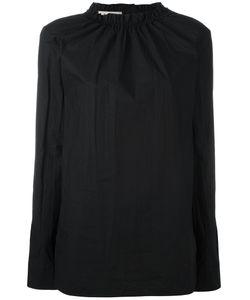 Marni   Ruffle Collar Poplin Top 42 Cotton