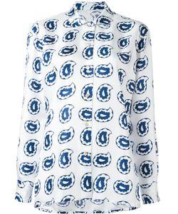 Kiton   Paisley Print Shirt 46 Silk