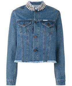 Forte Couture | Embellished Collar Denim Jacket