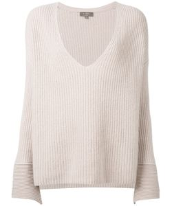 N.Peal | Wide Sleeve Deep V Sweater