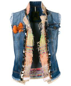 Alessandra Chamonix | Embellished Denim Waistcoat Size 42