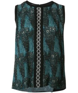 Yigal Azrouel | Tribal Print Pleated Top Size 8