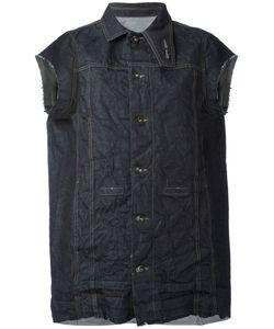Rick Owens DRKSHDW   Distressed Sleeveless Denim Jacket