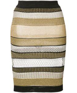 Balmain | Striped Skirt 38