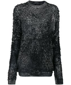 Avant Toi   High Shine Detail Top Women Silk/Cashmere/Virgin