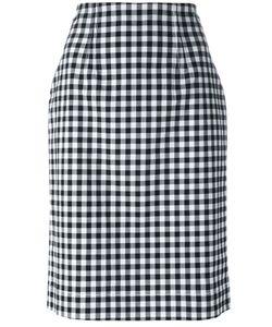 Blumarine   Gingham Check Pencil Skirt Size 44