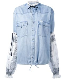 Forte Couture   Panelled Denim Shirt