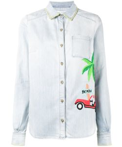 Mira Mikati | Embroide Denim Shirt 34 Cotton