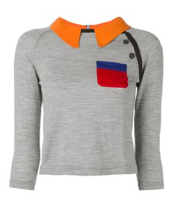 Prada | Contrast Collar Knitted Top Size 44