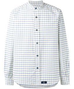Bleu De Paname | Mandarin Neck Checked Shirt