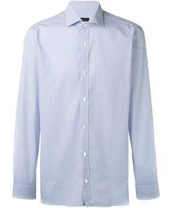 Z Zegna | Micro Design Long Sleeve Shirt