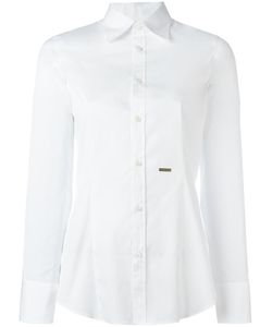 DSquared² | Logo Plaque Classic Shirt 44 Cotton/Spandex/Elastane