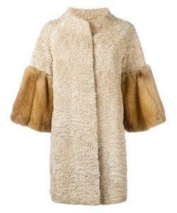 Liska   Two-Tone Coat Size Medium