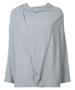 Just Female | Draped Shoulder Blouse Medium Viscose