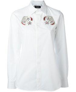 DSquared² | Beaded Shirt 44 Cotton/Spandex/Elastane