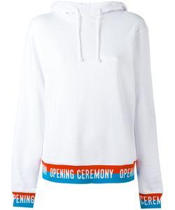 Opening Ceremony | Slogan Trim Hooded Sweatshirt Size Small