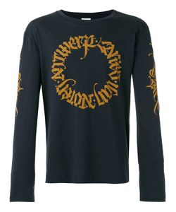 Dries Van Noten   Long Sleeved Sweatshirt With Branded Detail Size