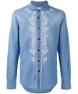 Ermanno Scervino   Embroidered Panel Buttoned Shirt Men