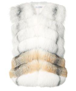 Oscar de la Renta | Chevron Pattern Sleeveless Jacket Size Small