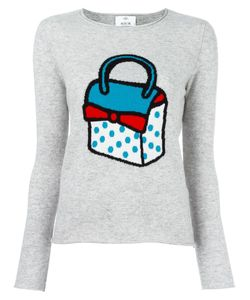 Allude | Bag Intarsia Jumper Large Cashmere