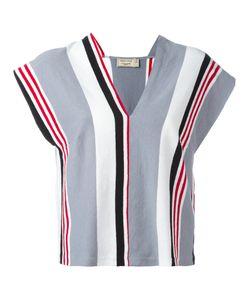 Maison Kitsuné | Striped V-Neck Blouse Size Xs