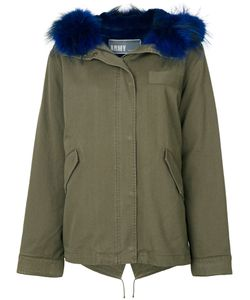 Army Yves Salomon | Fur Trim Coat Women Cotton/Rabbit