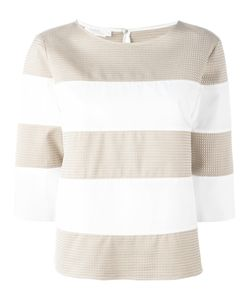 Barba | Striped Three-Quarter Sleeve Top Size 46