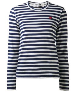 Comme Des Garçons Play   Striped Long Sleeve T-Shirt Size Medium