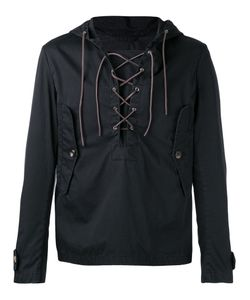 Barena | Lace Up Neck Hooded Jacket Size 52 Spandex/Elastane/Virgin