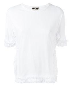 Hache | Ruffled Detail T-Shirt 40 Cotton