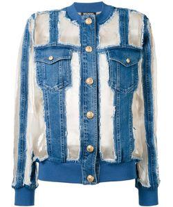 Balmain | Sheer Paneled Denim Jacket