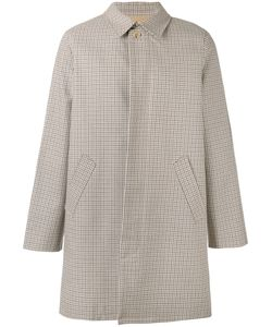 A.P.C. | A.P.C. Checked Button-Up Coat Size Xl