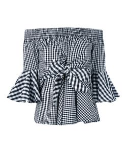 House Of Holland | Off-The-Shoulder Gingham Blouse