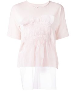 Jenny Fax   Tulle Smocked T-Shirt Size Medium