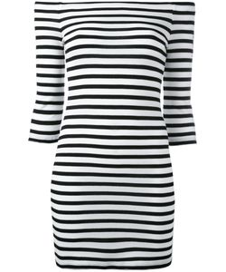 Zoe Karssen | Off-Shoulders Striped Dress Size Xs