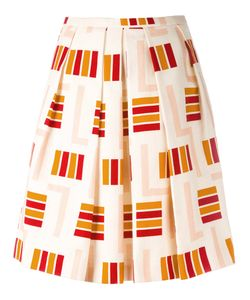 Eggs   Striped Midi Skirt 42