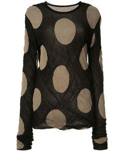 Uma Wang | Dotted Longsleeved T-Shirt Medium Cotton