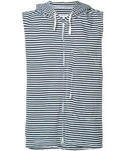 Engineered Garments | Striped Sleeveless Hoodie Size Medium
