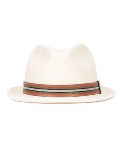 Valentino   Striped Band Trilby Hat